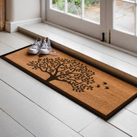 Tree of Life with Birds -  Printed Natural Coir Doormat - 40cm x 120cm