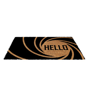 007 Bond Mat - Printed Natural Coir Hello Entrance Mat