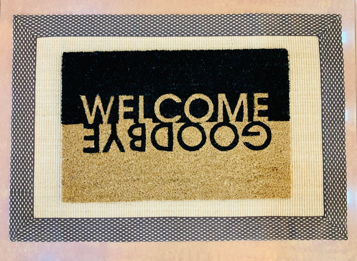 Jute Coir Combo - Welcome Goodbye printed Entrance Door Mat