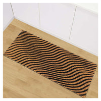 Wave Pattern Natural Coir Doormat (120cm x 40 cm)
