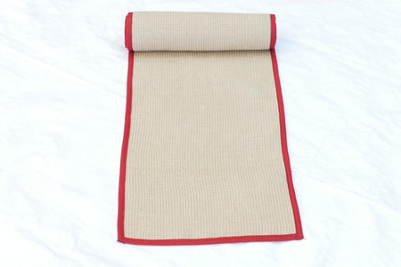 Eco-Friendly Jute Table Mat With Red Cotton Border
