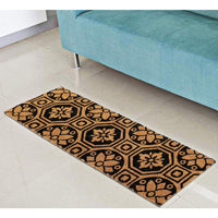 Large Mosaic Pattern Natural Coir Doormat (120 x 40)