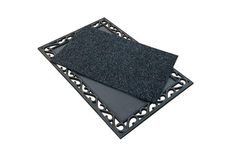 Rubber Mat with Sanitising Centre - 60cm x 90cm - Sanitisation Purpose and Absorbing Water