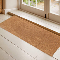 Long Natural Coir Door Mat with Anti-Slip Backing
