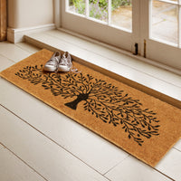 Tree Printed Natural Coir Doormat (120 x 40)