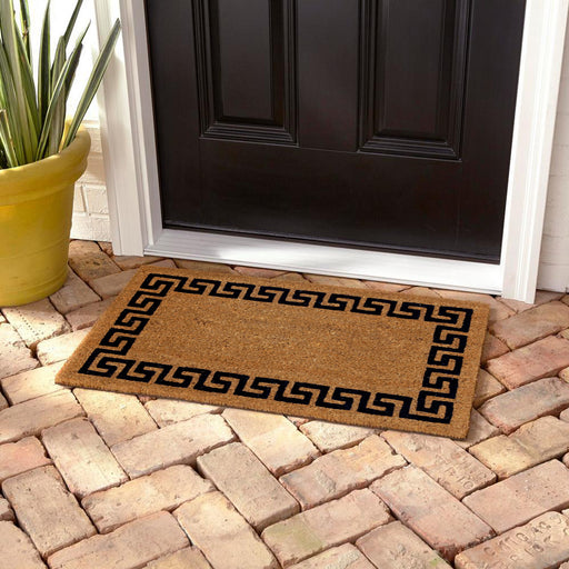 Greek Pattern Printed Natural Coir Floor Mat