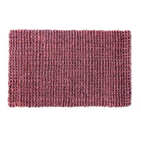 Maroon colour Handwoven Jute Floor Mat