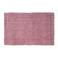 Handwoven Pink colour Jute Floor Mat
