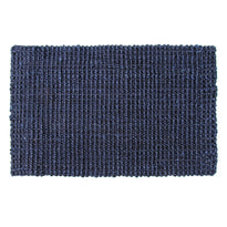 Handwoven Blue Colour Natural Jute Floor Mat