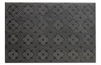 Lightweight Black Rubber Pin Floor Mat with Designer Pattern - OnlyMat