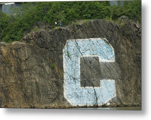 C Rock Of Columbia University - Metal Print