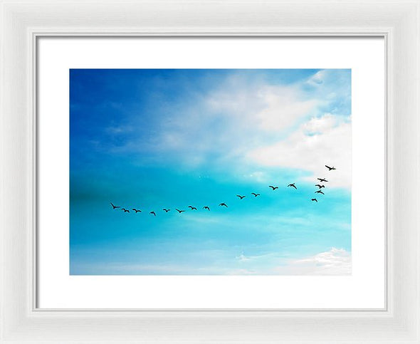 Flying Away - Framed Print