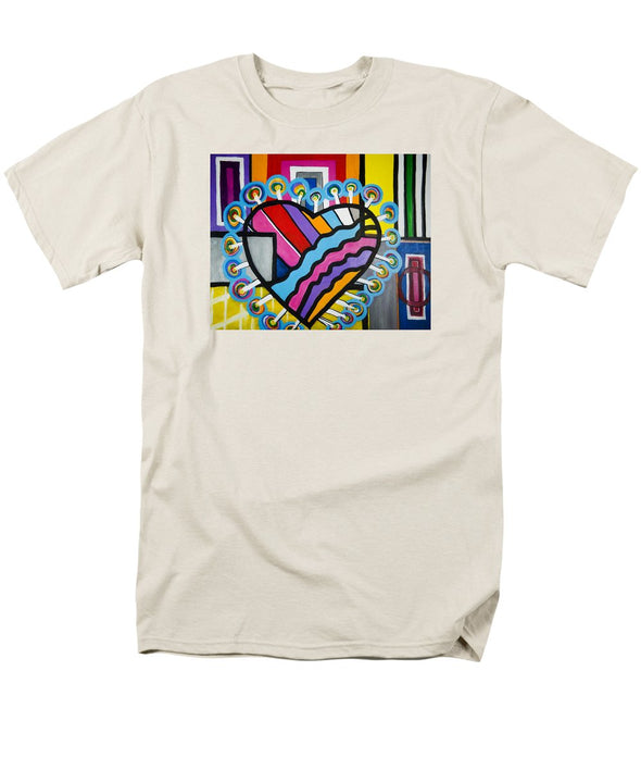 Heart - Men's T-Shirt  (Regular Fit)