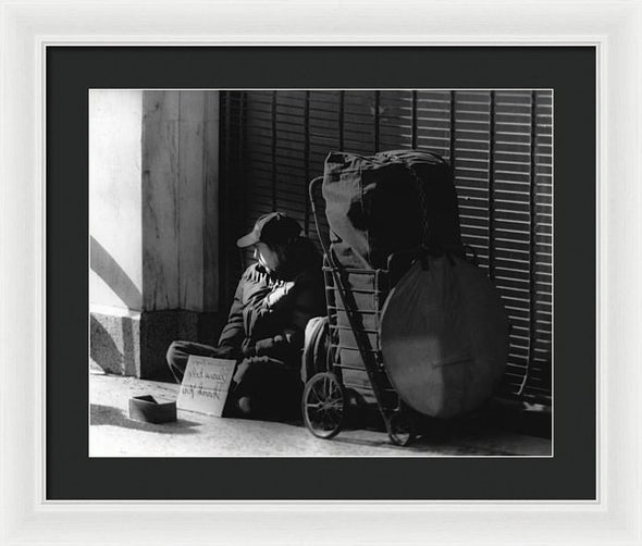 Looked The Other Way - Framed Print