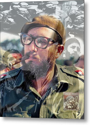 Loved Fidel - Metal Print
