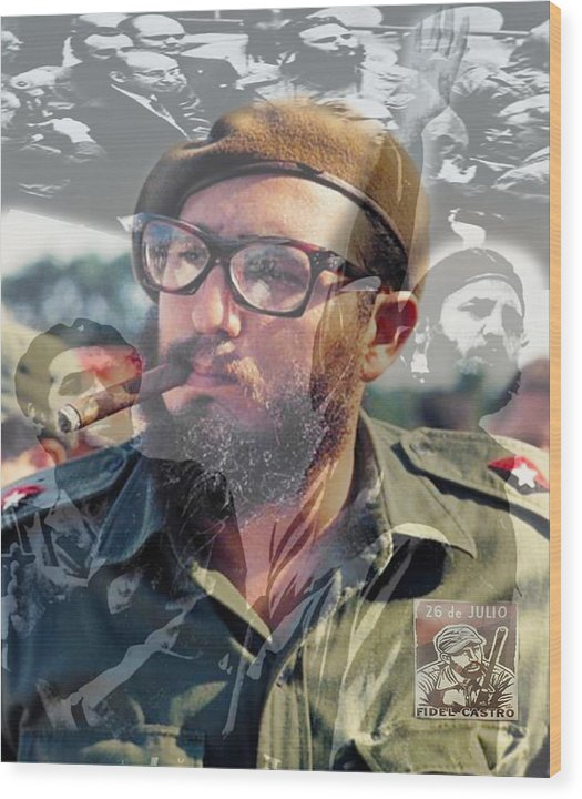 Loved Fidel - Wood Print
