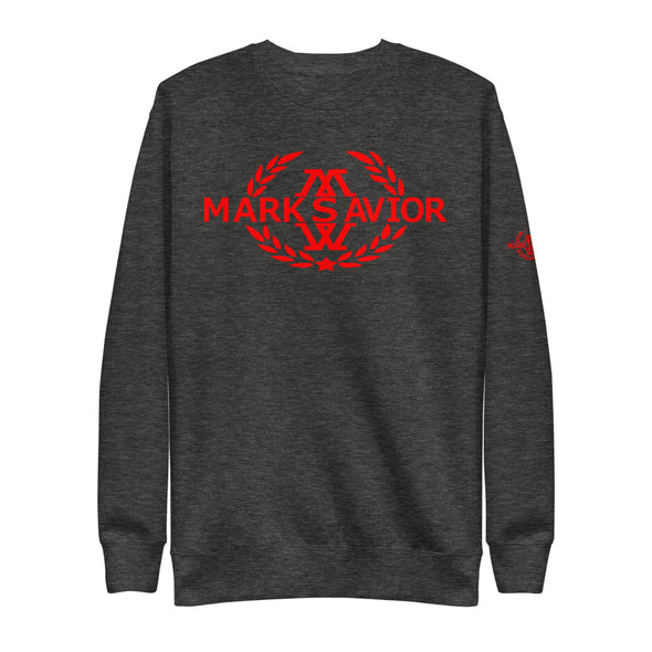 Remixed White/Red Fleece Pullover