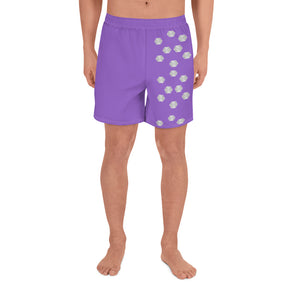 Mark Savior Iconic Logos Purp Men's Athletic Long Shorts
