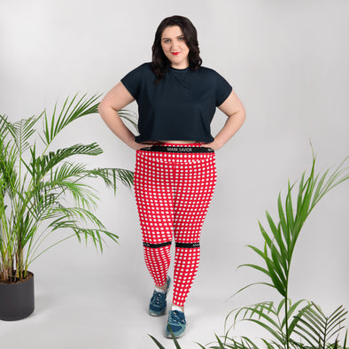 Red Dots All-Over Print Plus Size Leggings