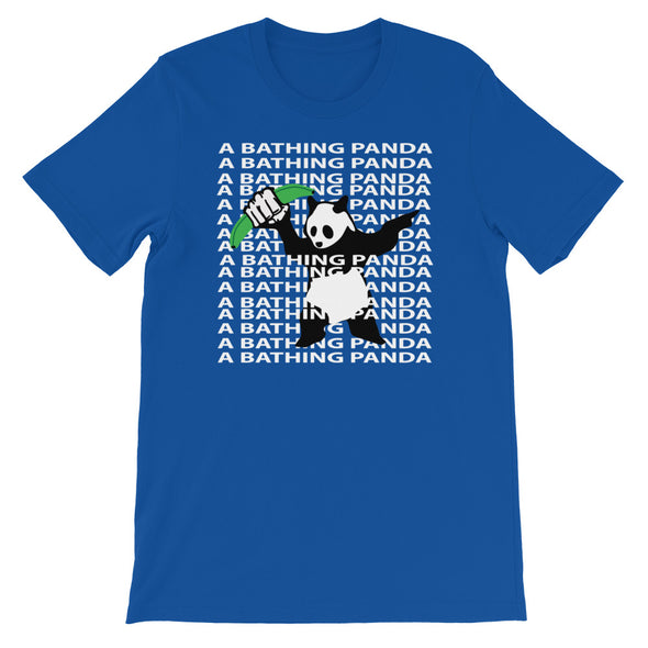 A Bathing Panda Layer Text T-Shirt