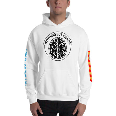 Chest Patch Brain  Logo Hooded Sweatshirt