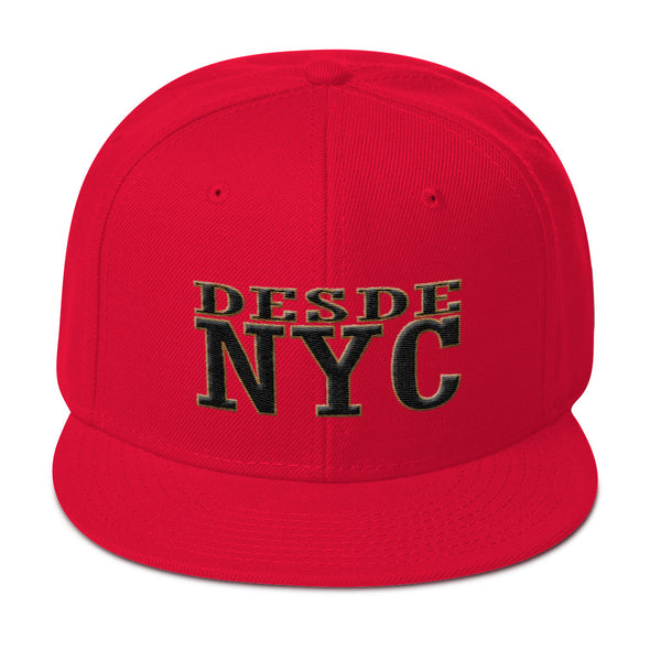 Desdenyc Big NYC White Snapback Hat