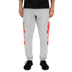 Mark Savior Red Iconic Logo Joggers