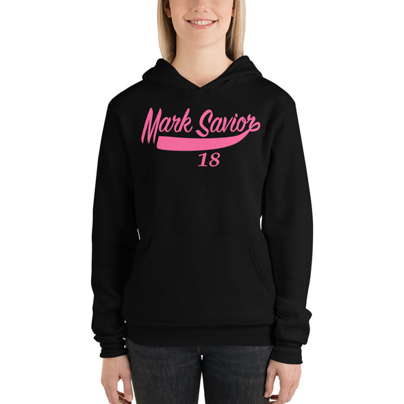 Mark Savior Hot Pink Text hoodie
