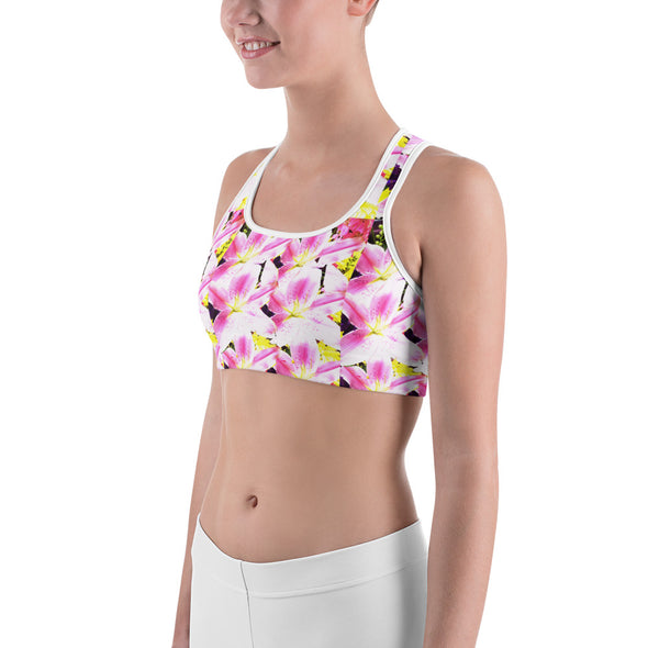 Mark Savior Flower Print Sports bra