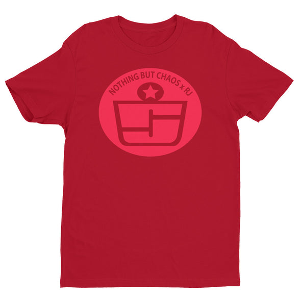 Red Logo  Premium Fitted T-shirt