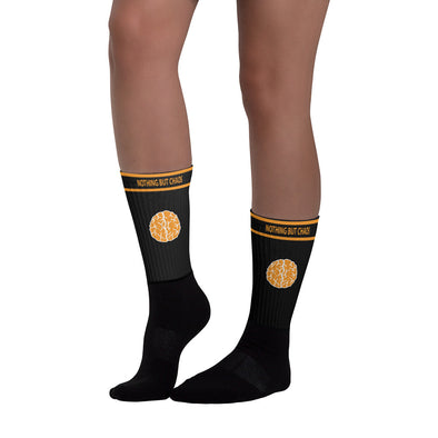 Casual Orange Brain Logo Socks
