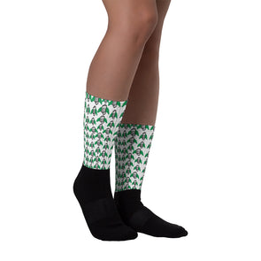 Platanos Print Black foot socks