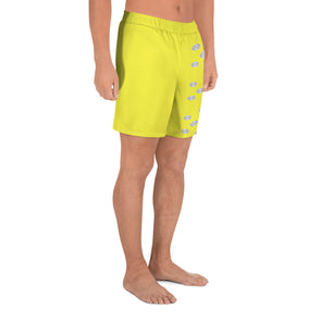 Mark Savior Iconic Logos Yellow Men's Athletic Long Shorts