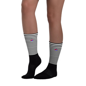 RJ Black Striped Socks