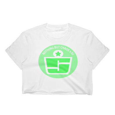 Green Logo Crop Top