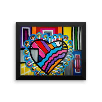 Heart Framed photo paper poster