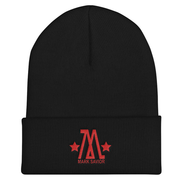 Mark Savior Red Logo Cuffed Beanie