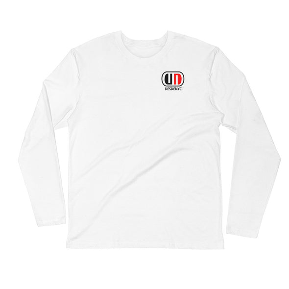 Desdenyc logo Long Sleeve Fitted Crew