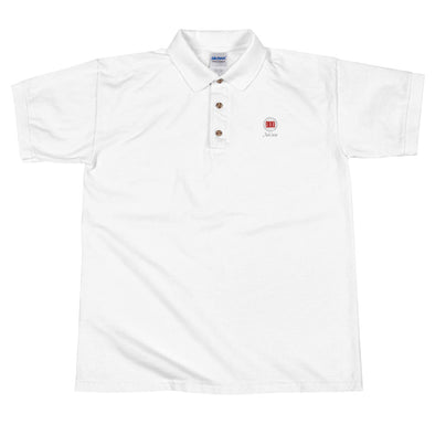 Mark Savior Embroidered White Polo Shirt