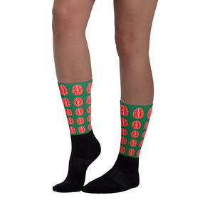 Nothing But Chaos Cool Red Brain Socks (Green)