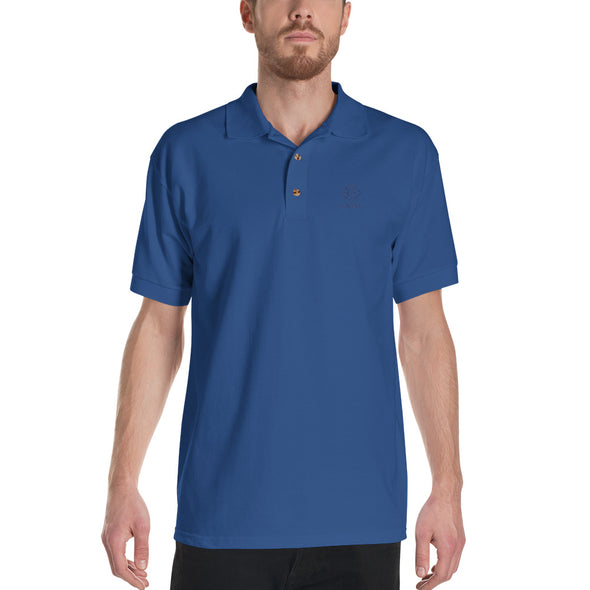 Desdenyc Classic Blue Embroidered Polo Shirt