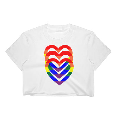 Pride Hearts Women's Crop Top