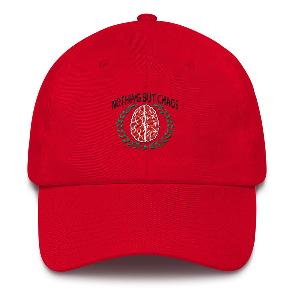 Nothing But Chaos Red Brain Cotton Cap