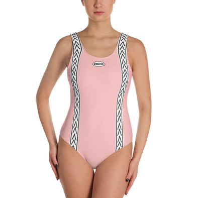 Beach Body Pink One-Piece Swimsuit