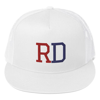 Dominican RD White Trucker Hat