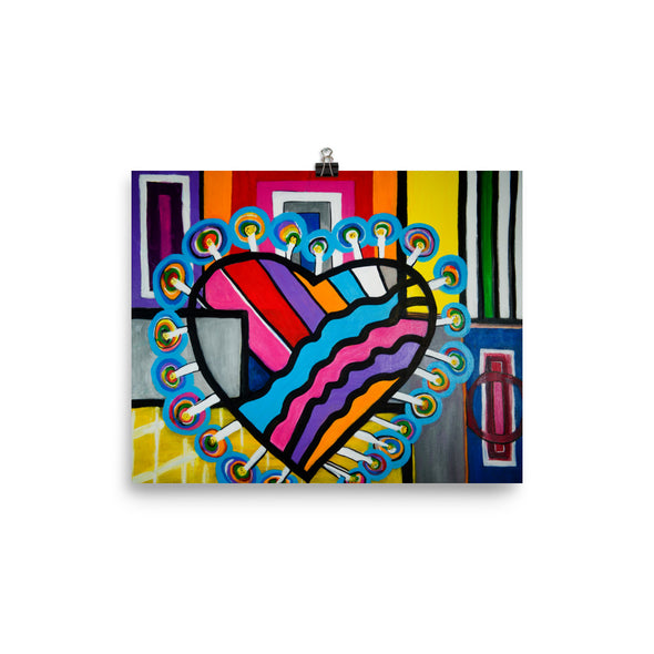 Heart Photo paper poster