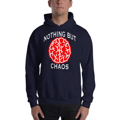 Brain White Text Hooded Sweatshirt