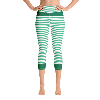 Winter Green Yoga Capri Leggings