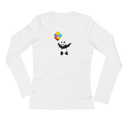Balloon panda Ladies' Long Sleeve T-Shirt