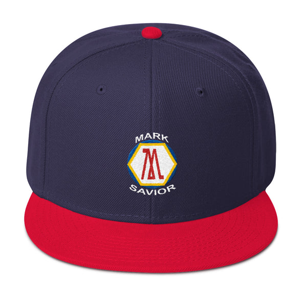 Mark Savior Colored Flat Logo Snapback Hat